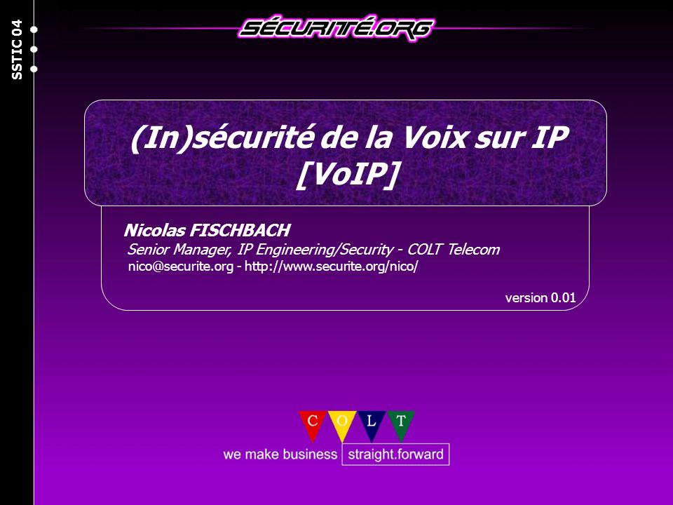 (In)sécurité de la Voix sur IP [VoIP]